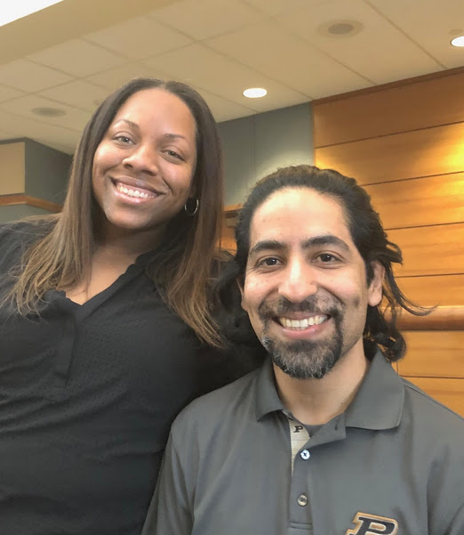 Chanda Foucher and Jonathan Santeliz, Krannert School of Management Men as Allies co-chairs